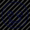 crazy, emoji, emoticon, silly icon