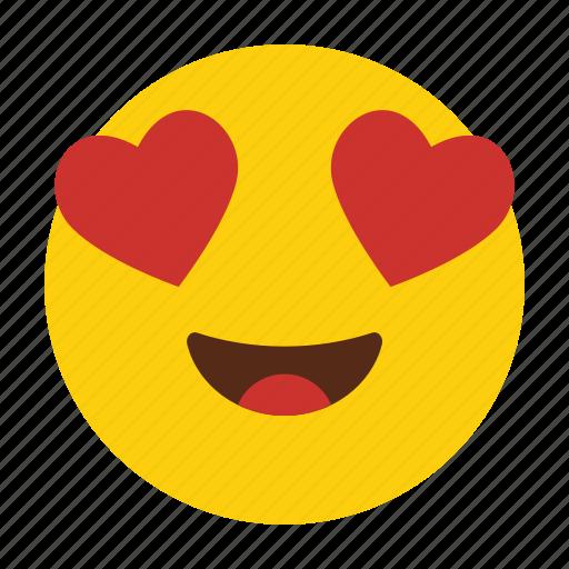 Emoji, emoticon, eyes, happy, heart, in, love icon - Download on Iconfinder