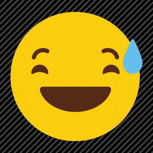 emoji, emotion, laugh, smile, tears icon