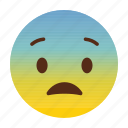 emotion, face, sad icon