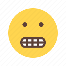angry, cartoon, funny, grin, mouth, smile, teeth icon