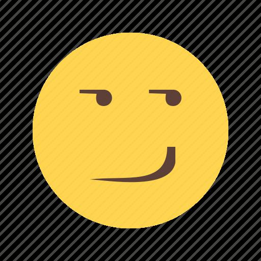 expression, happy, person, smile, smirk, smirking, view icon