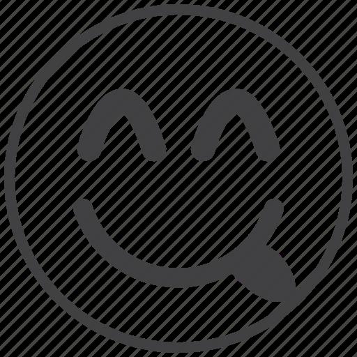 emoticon, happy, joke, smile, smiley icon