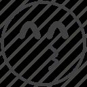 emoticon, kiss, love, smiley icon