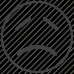 emoticon, sad, smiley icon