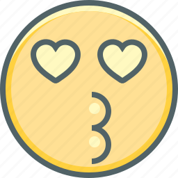 affection, emoji, emotion, expression, kiss, love, romantic icon