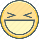 emoji, emotion, eye, headline, mouth, open, smiling icon