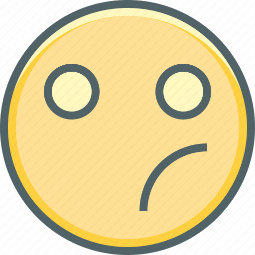 bewildered, emoji, emoticon, emotion, mood, sad, unhappy icon