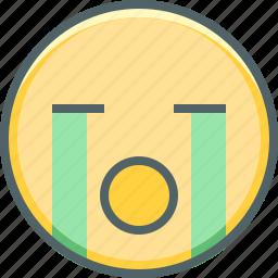 cry, emoji, emotion, expression, mood, sad, unhhapy icon
