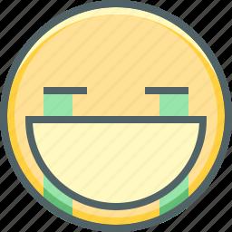 cry, emoji, emotion, mouth, open, sad, unhappy icon
