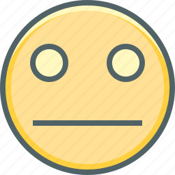 emoji, emotion, expressionless, face, indifferent, sad, unmindful icon