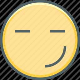 emoji, emoticon, emotion, happy, innocent, smiley, sure icon