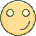 emoji, emotion, expression, happy, innocent, smile, smiley icon