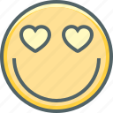 emoji, emotion, happy, heart, like, love, romantic icon