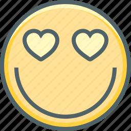 emoji, emotion, happy, heart, like, love, romantic icon