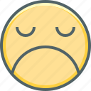 angry, emoji, emoticon, emotion, mood, sad, unhappy icon