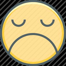 angry, emoji, emoticon, emotion, mood, sad, unhappy icon