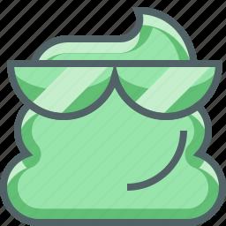 cool, cute, emoji, emotion, happy, shit, smiley icon