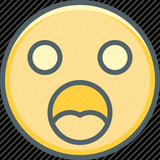 confusion, emoji, emoticon, emotion, expression, face, shocked icon