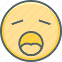 emoji, emoticon, emotion, exhausted, sleep, sleepy, tired icon