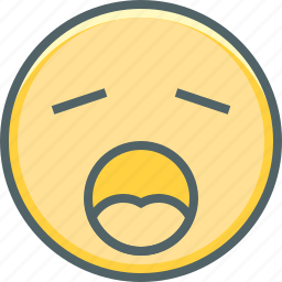 emoji, emoticon, emotion, exhausted, sleep, sleepy, tired icon