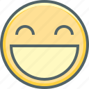 emoji, emotion, happy, mouth, open, smiley, smiling icon