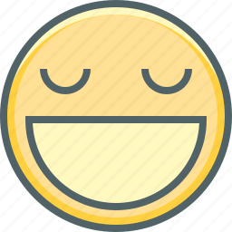 emoji, emotion, eyes, happy, mouth, open, smiling icon