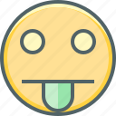 cheeky, emoji, emoticon, emotion, expression, smiley, tongue icon