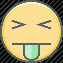 cheeky, emoji, emoticon, emotion, expression, smile, tongue icon