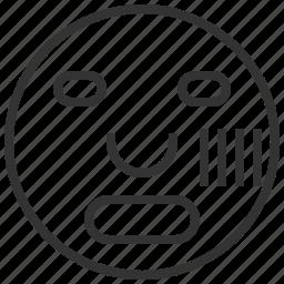 alarmed, emotion, mood, sad icon