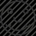 account, avatar, emotion, profile, smiling icon