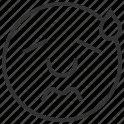 avatar, emoticon, emotion, people, sweat icon