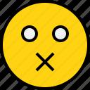 avatar, emoji, emotion, face, feeling, muted icon