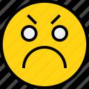 angry, avatar, emoji, emotion, face, feeling icon