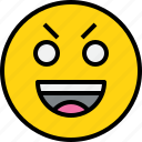 avatar, confident, emoji, emotion, face, feeling icon