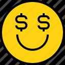 avatar, emoji, emotion, face, feeling, money icon