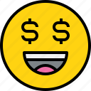 avatar, emoji, emotion, face, feeling, money icon