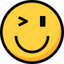 emoji, emotion, face, funny, happy, naughty icon