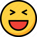 emoji, emotion, face, funny, happy, laugh icon