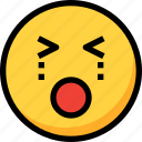 cry, emoji, emotion, face, sad icon
