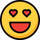 emoji, emotion, face, heart, love icon