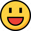 emoji, emotion, face, happy, joy icon