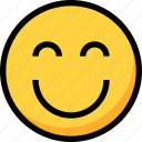 emoji, emotion, face, happy, people, smile icon