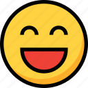 emoji, emotion, face, happy, kind, smile icon