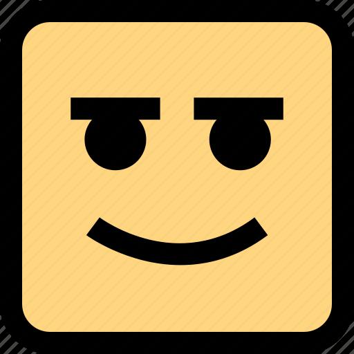 emotion, expression, smile icon
