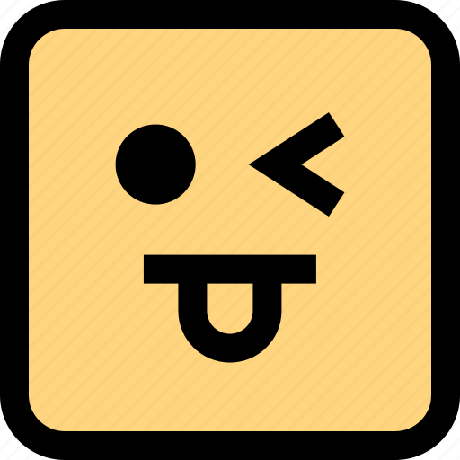 emoji, expression, face, goofy icon