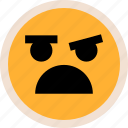 emotion, face, faces, in, shock icon