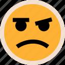 brown, emotion, eye, face, faces, sad icon