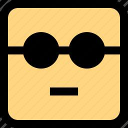 emoji, emotion, face, serious icon