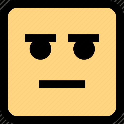 emoji, sad, serious icon